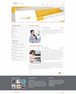 白色纯净的大图商务博客CSS模板建设电脑图片