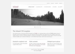 白色素雅整洁的幻灯企业首页网站模板电脑图片