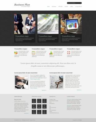 比较简单大气的商务网站模板制作电脑图片