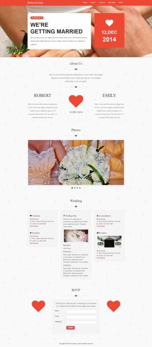 婚礼定制中心类网站建设模板电脑图片