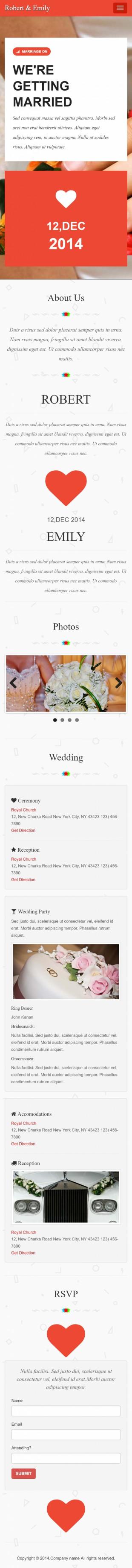婚礼定制中心类网站建设模板手机图片