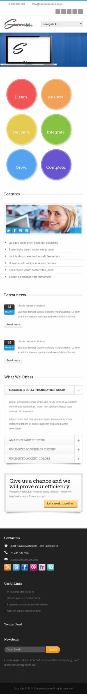 企业网站类英文模板网站应用响应式网站手机图片