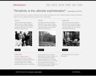 新闻类英文网站首页制作模板电脑图片