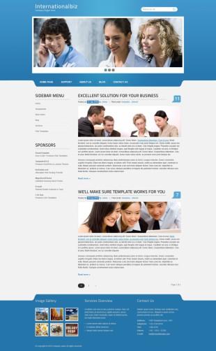 商务公司类网站英文模板制作电脑图片
