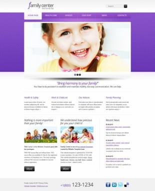 儿童类定制英文网站制作模板电脑图片