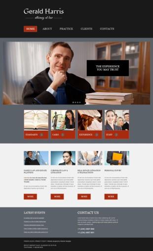 法律顾问团队类英文网站建设模板响应式网站电脑图片