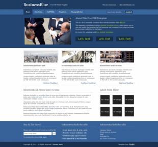BusinessBlue英文网站模板电脑图片
