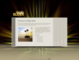 Single Sliders英文网站模板电脑图片