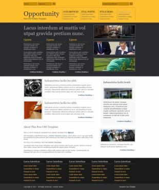 Opportunity英文网站模板电脑图片