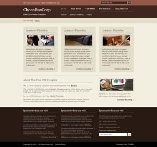 ChocoBusCorp英文网站模板电脑图片