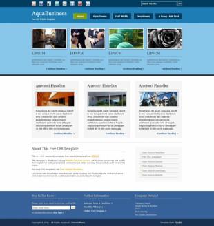 AquaBusiness英文网站模板电脑图片