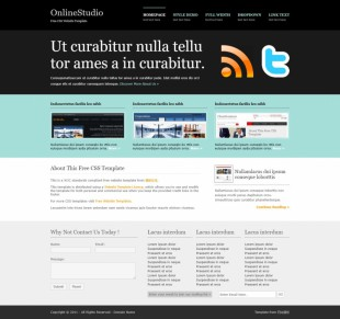 OnlineStudio英文网站模板电脑图片