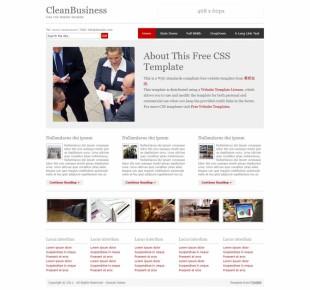 CleanBusiness英文网站模板电脑图片