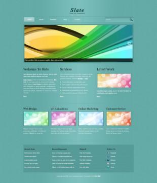 Slate Theme英文网站模板电脑图片