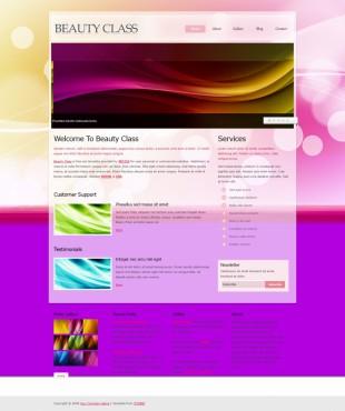 Beauty Class Theme英文网站模板电脑图片