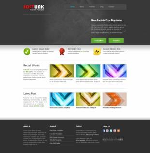 Soft Link Theme, Homepage英文网站模板电脑图片