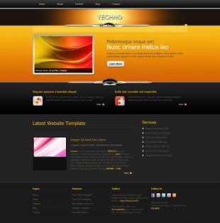Techno Theme英文网站模板电脑图片