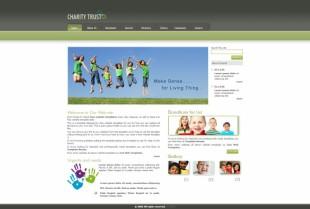 Charity Trust英文网站模板电脑图片