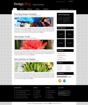 design blog英文网站模板电脑图片