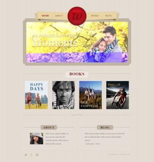 Book Author Portfolio Website Template英文网站模板电脑图片