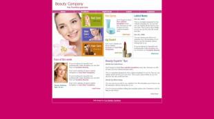 Beauty companys英文网站模板电脑图片