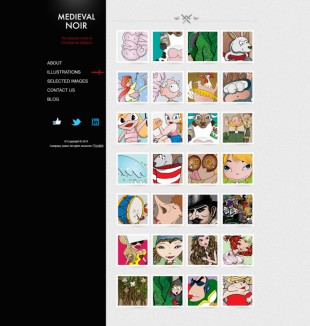 Artist Website Template英文网站模板电脑图片