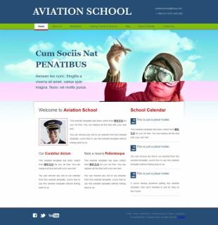 Home - Aviation School英文网站模板电脑图片