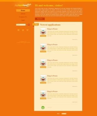Appapp & Away Website Template英文模板网站电脑图片