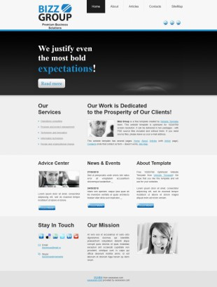 Home - Bizz Group英文模板网站电脑图片