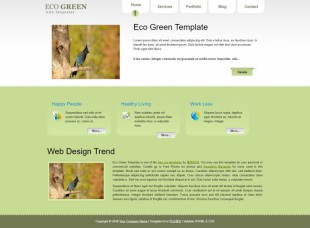 Eco Green - CSS Templates英文模板网站电脑图片