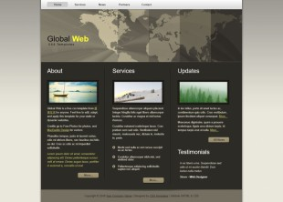 Global - CSS Templates英文模板网站电脑图片