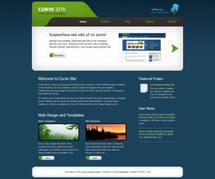 Curve Sites英文模板网站电脑图片