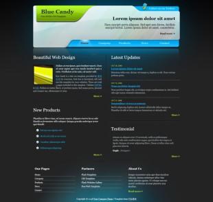 Blue Candy Template英文模板网站电脑图片