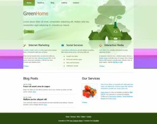 Green Home Website英文模板网站电脑图片