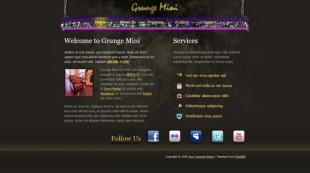 Grunge Mini英文模板网站电脑图片