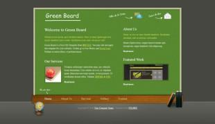 Green Board Theme英文模板网站电脑图片