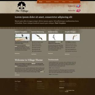 Village Theme英文模板网站电脑图片