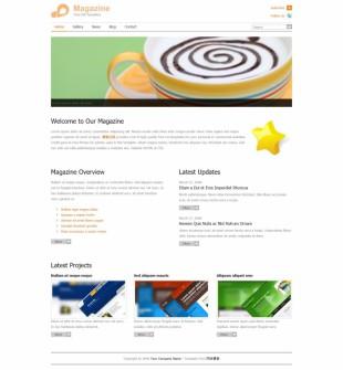 Magazine Theme英文模板网站电脑图片