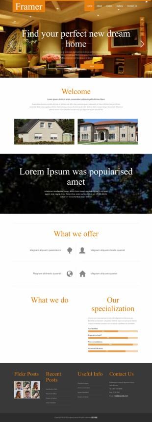 别墅高端装修公司企业整站英文网站建设模板电脑图片