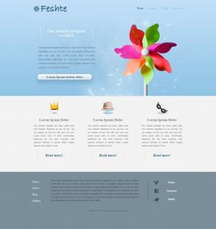 彩色风车斜纹背景企业网站英文网站建设模板电脑图片