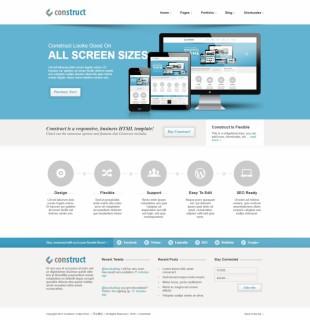 超赞CSS3动画效果企业商务风格英文网站建设模板电脑图片