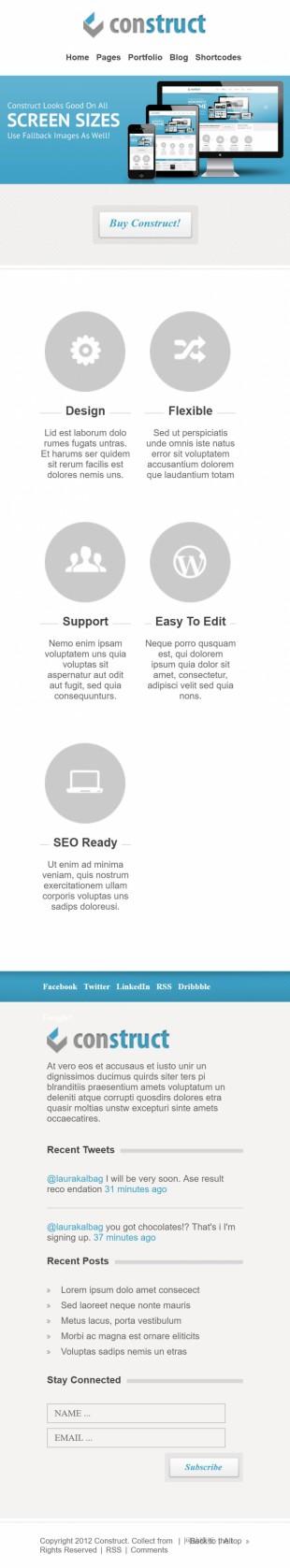 超赞CSS3动画效果企业商务风格英文网站建设模板手机图片