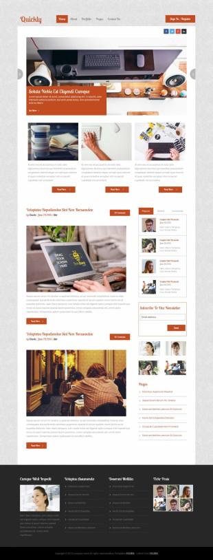 橙色漂亮商务vi设计公司网页整站英文网站建设模板电脑图片