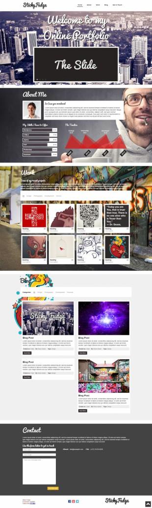 大气个性设计师作品展示单页CSS模板英文网站建设模板电脑图片