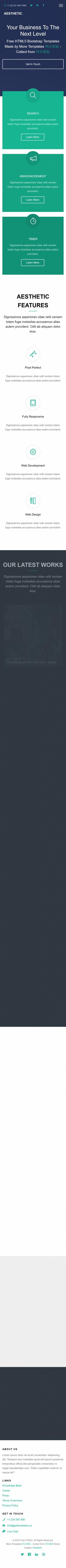 大气精美UX Design设计官网英文企业模板制作手机图片