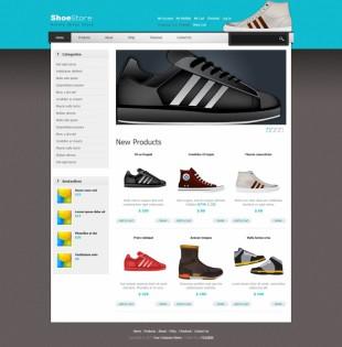 大气精美鞋子电子商务商城英文网站模板电脑图片