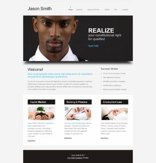 大图商务简洁咨询企业英文网站模板制作电脑图片