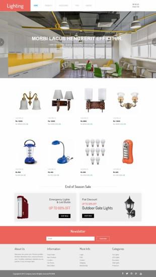 灯饰在线商城购物英文网站模板制作电脑图片