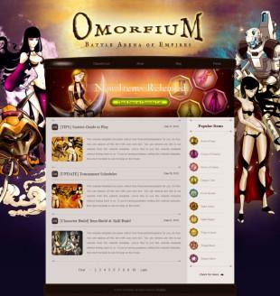 动漫卡通背景CG游戏英文网站模板电脑图片