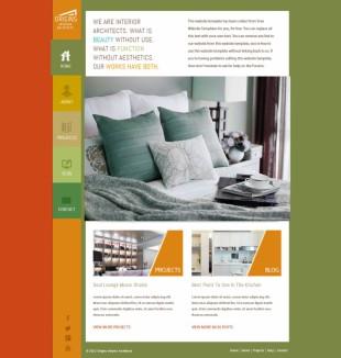 多元色个性家居家庭企业英文网站模板电脑图片